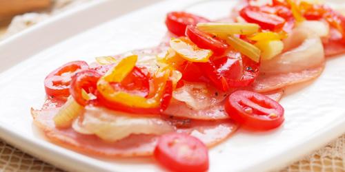 ハムのトマトパプリカマリネ