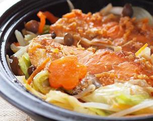 鮭の生姜味噌でちゃんちゃん焼き風